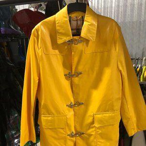 Vintage Burberry yellow rain slicker
